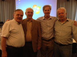 Veteranen der Friedensbewegung: Wolfgang Biermann, Ulrich Frey, Jo Leinen, Gerd Pflaumer